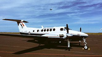 RAF Cranwell - A King Air, previously used by No. 45(R) Squadron's based at RAF Cranwell
