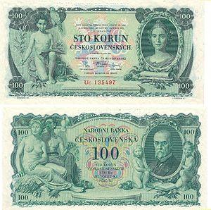 Max Švabinský - Image: CS 100 Korun Kč 1931