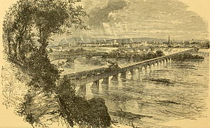 Cumberland Valley Railroad Bridge - The bridge c.1881