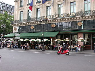 Parisian café - The Café de la Paix, at the Boulevard des Capucines