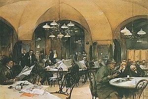 Young Vienna - Café Griensteidl in 1896 (Reinhold Völkel)