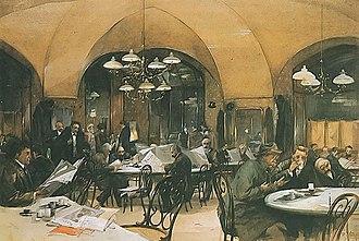 Wiener Moderne - Image: Cafe Griensteidl 1896
