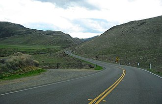 California State Route 198 - Looking west on Route 198 a few miles west of Coalinga, California