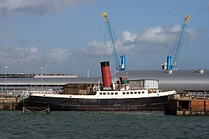 Preserved tug Calshot moored at Southampton
