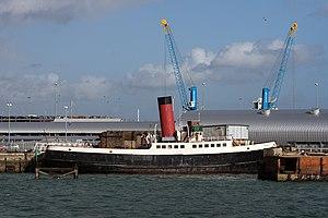 TSS T/T Calshot - Preserved tug Calshot moored at Southampton