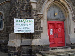 Calvary United Methodist Church (Philadelphia) - Image: Calvary UMC Phila northwestentrance