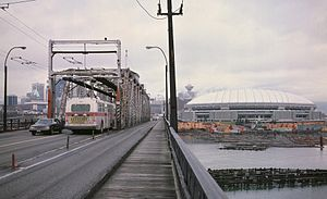 "Cambie Bridge - The second Cambie Street Bridge, or ""Connaught Bridge"", less than a year before its closure."