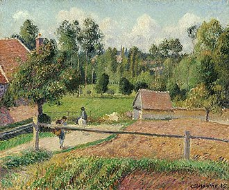 Homme au bain (painting) - Image: Camille Pissarro View from the Artist's Window, Eragny