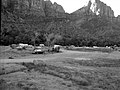 Camper use of overflow area, South Campground overcrowding group area. ; ZION Museum and Archives Image ZION 9246 ; ZION 9246 (5384101a3b7243b193070ad7e3fd8d45).jpg