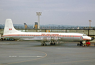 Canadair CL-44 - Canadair CC-106 Yukon of the Canadian Armed Forces at London Gatwick Airport in 1968