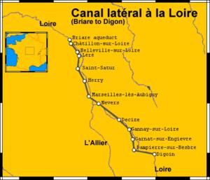 Canal latéral à la Loire - Canal latéral à la Loire route map