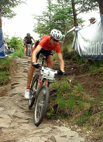 Cannondale Bicycle Corporation - Cannondale with 'Lefty' fork racing at Fort William, Scotland