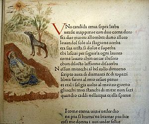 Il Canzoniere - After printing, early versions of the Canzoniere were illuminated with pictures.