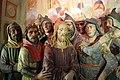 Cappella della casa di anna, gesù davanti al sommo sacerdote anna, della bottega di giovanni della robbia 03.jpg