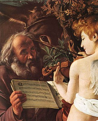 Rest on the Flight into Egypt (Caravaggio) - Flight into Egypt (detail).