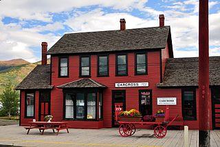 railway station in Carcross, Yukon, Canada