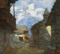 Carlo Bazzi, Lierna Lake Como, oil on canvas.png