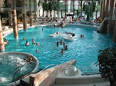 Indoor swimming pool with mineral water, Carolus Thermen, Aachen, Germany