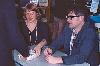 Wildwood (novel) - Carson Ellis and Colin Meloy at a book signing in Portland.