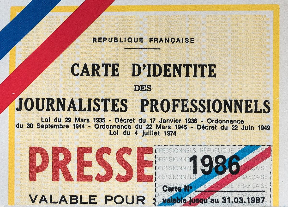 Carte de presse en France — Wikipédia