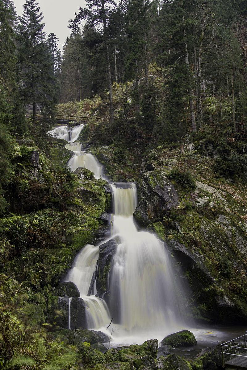 Triberger Wasserfälle, die unteren 4 der 7 Hauptstufen