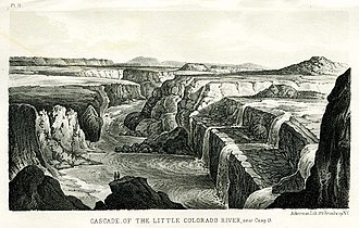 Sitgreaves Expedition - A lithograph of the Little Colorado made during the expedition.
