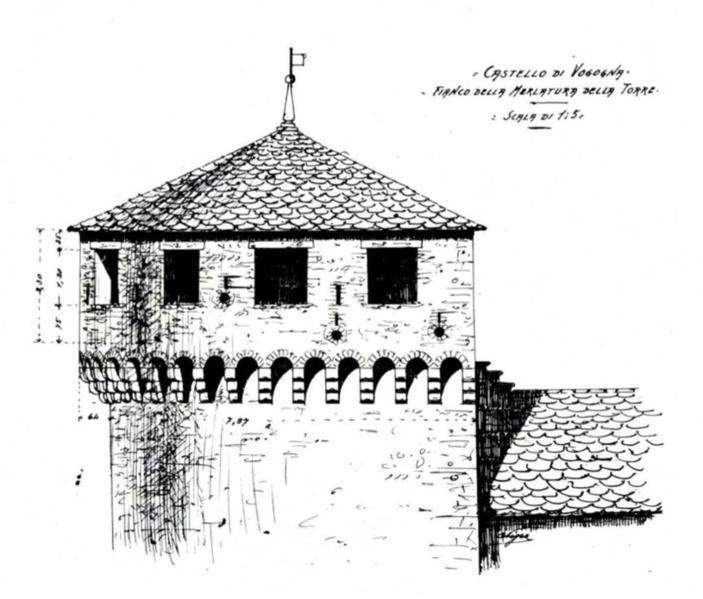 File:Castello di Vogogna fianco della merlatura della torre Nigra fig VII.tiff