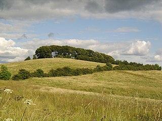 Castlehill Fort the Roman Fort on the Antonine Wall in Scotland, near Bearsden