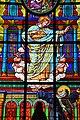 Cathédrale Saint Louis de La Rochelle - Chapelle du Sacré Coeur - vitrail Apparition du Christ à Marguerite-Marie.jpg