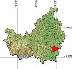 Vị trí của Ceanu Mare