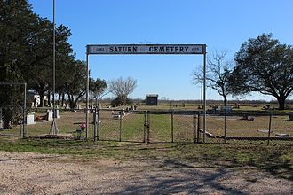 Waelder, Texas - A cemetery near town