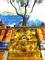 Cempasúchil Altar en el museo de Frida Kahlo , Ciudad de México..jpg