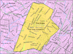 Census Bureau map of West Orange, New Jersey