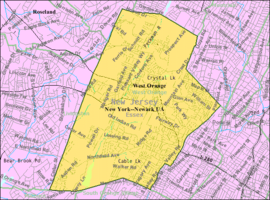 Census Bureau map of West Orange, New Jersey.png