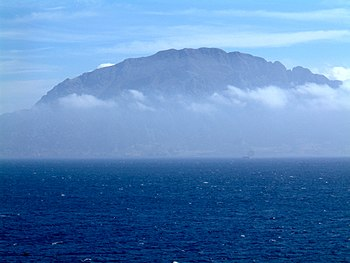 Ceuta seen from Spain