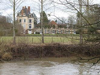 La Ferté Abbey - The former abbot's house, now the Château de la Ferté, the only significant surviving structure of the abbey
