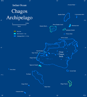 Chagos Archipelago - Map of the Chagos Archipelago
