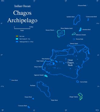 Chagos Archipelago - Map of the Chagos Archipelago