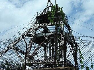 Kolar Gold Fields - Champion Reef mine shaft at KGF
