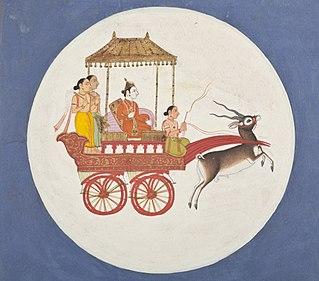 Chandra Lunar deity in Hinduism