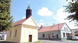 Chapel and town hall in Mezholezy.jpg