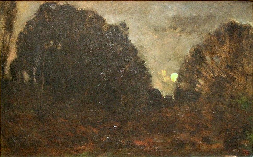 Charles-François Daubigny - Rijzende maan in Barbizon