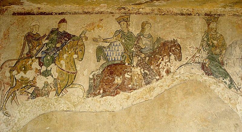 File:Chasse royale, fresque de la chapelle Sainte-Radegonde.JPG