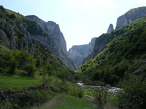Turda Gorge - Turda Gorges seen from the west end