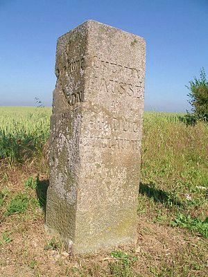 Baron-sur-Odon - A milestone on Chemin Haussé