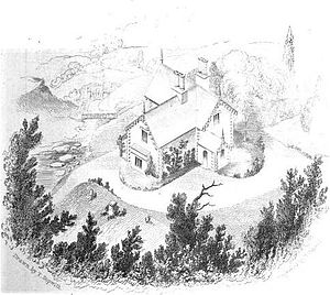 Thomas Sopwith (geologist) - Title page illustration, Chesterholme from Sopwith's 1838 book on isometric drawing