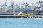 Choppers Sea and big boats.JPG