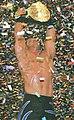 Chris Benoit holding the World Heavyweight Championship belt at WrestleMania XX.jpg