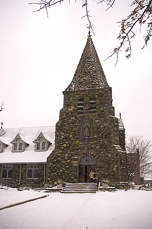 Christ Episcopal Church (Waltham, Massachusetts) - Christ Church after a snowfall