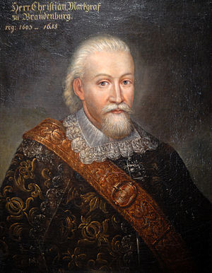 Christian, Margrave of Brandenburg-Bayreuth - Christian,Margrave of Brandenburg-Bayreuth at an older age